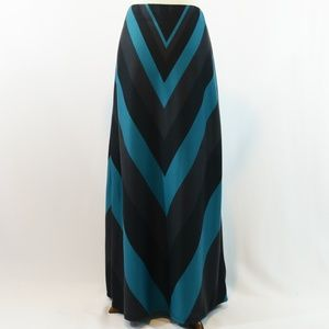 Eci Chevron Print Knit Maxi Skirt
